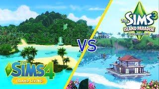 Sims 4 Island Living Vs Sims 3 Island Paradise Trailers