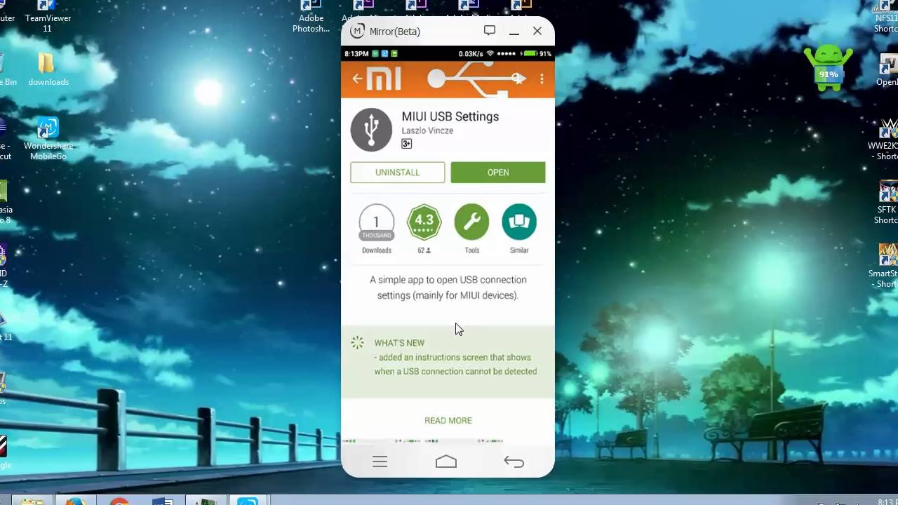 How to get MTP USB connectivity options on MIUI Xiaomi Redme phones