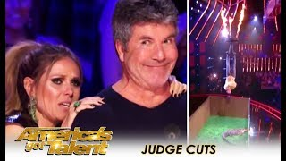 Lord Nil: Guy Almost KILLS Himself To Please Simon Cowell | America's Got Talent 2018