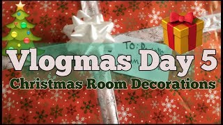 Vlogmas Day 5| Making my wall a present (diy)