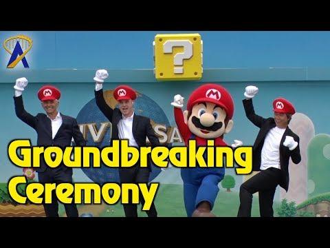Groundbreaking Ceremony for Super Nintendo World at Universal Studios Japan - Coming 2020