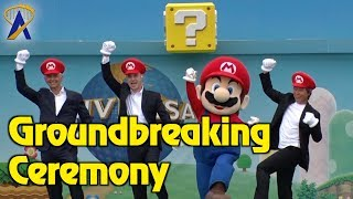 Groundbreaking Ceremony for Super Nintendo World at Universal Studios Japan - Coming 2020