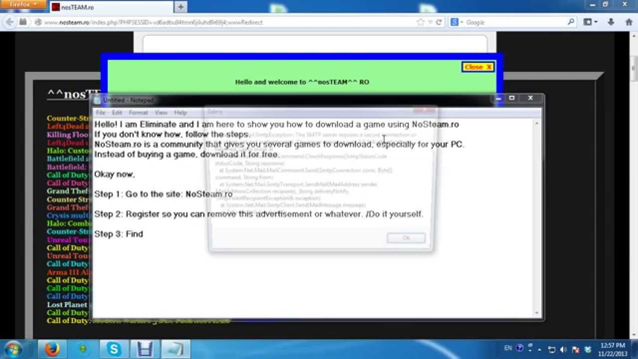 How to download a game from nosteam youtube how to download a game from nosteam solutioingenieria Gallery