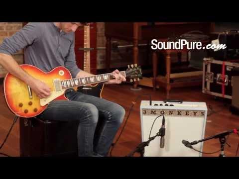 Nash Aged Gibson Les Paul and 3 Monkeys Sock Monkey 18/12 Combo Amp
