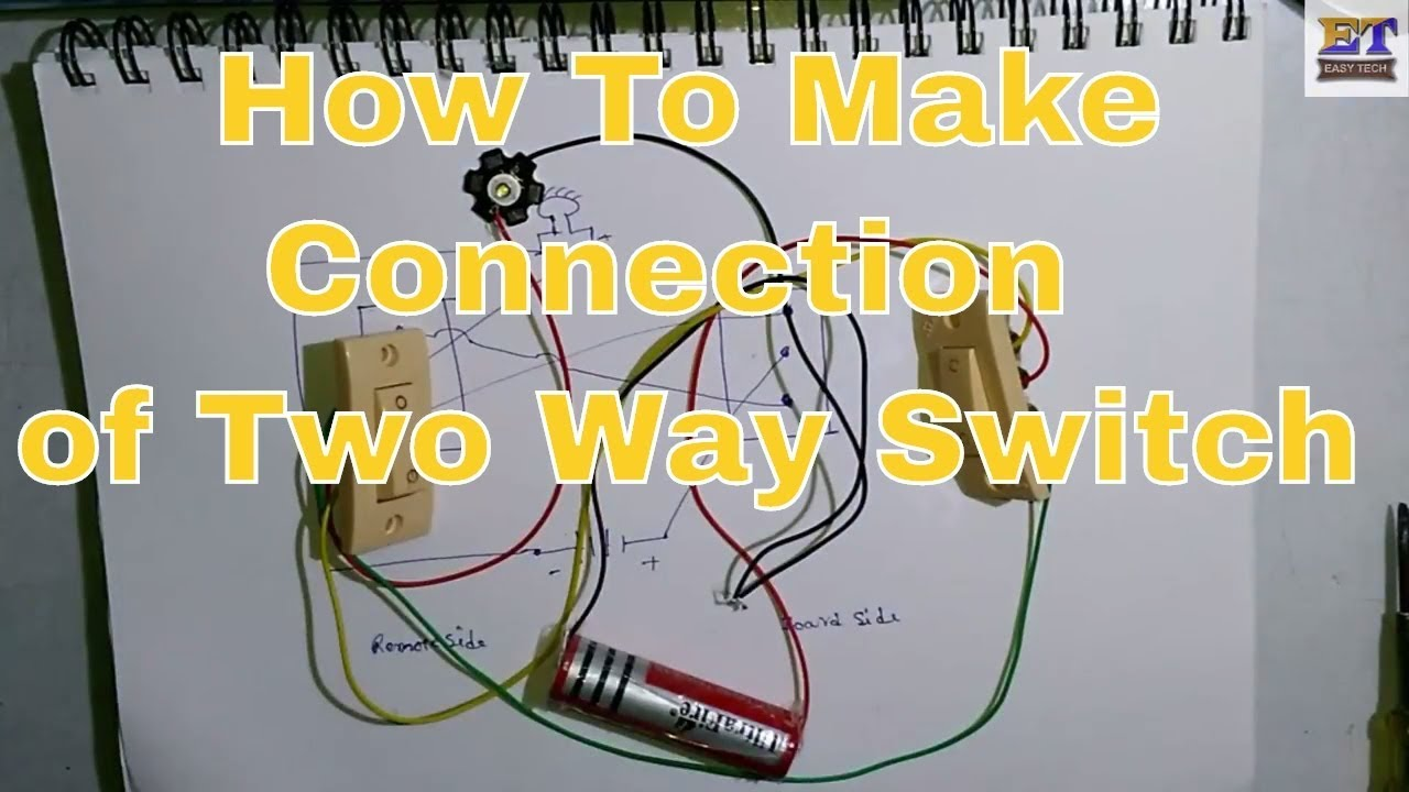 how to make two way switch connection