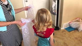 One of April and Davey's most viewed videos: Disney's Frozen Dress DIY // Sold out Made my own // Tutorial