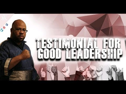 The Israelites: TESTIMONIAL FOR VEGAS GOOD LEADERSHIP