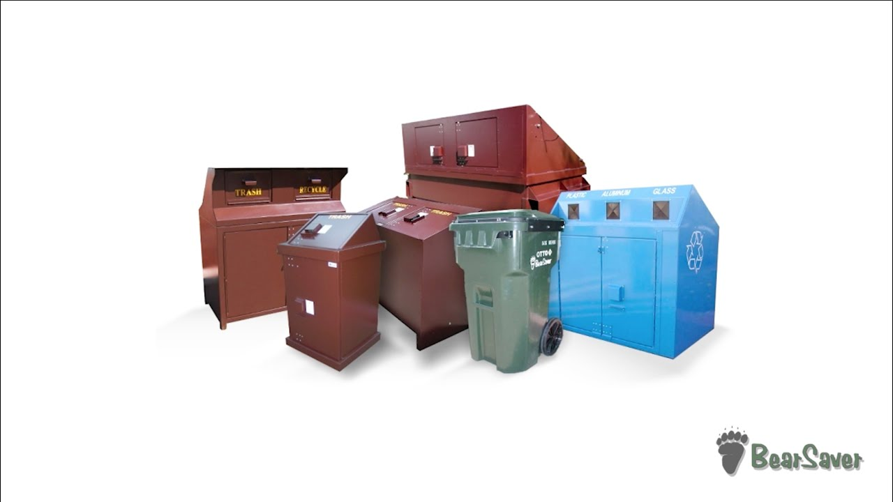 Bear Proof Trash Cans, BearSaver Food Lockers, Bear Resistant Waste Carts,  Animal Proof Containers