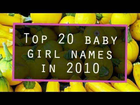 Top 20 Baby Girl Names in 2010 - 2017