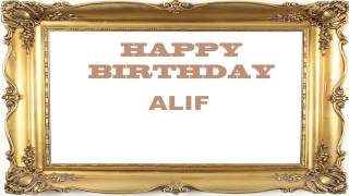 Alif   Birthday Postcards & Postales - Happy Birthday