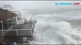 """Paso de la tormenta """"Sergio"""" por San Carlos"""