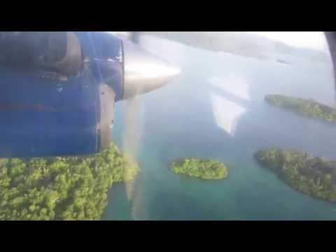 Seghe - Honiara, Solomon Islands. Taking off.