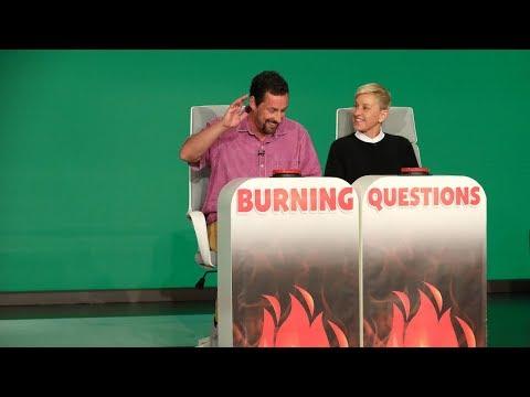 Adam Sandler Answers Ellen's 'Burning Questions'
