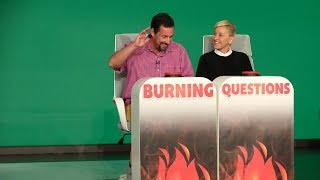Adam Sandler Answers Ellen's 'Burning Questions'