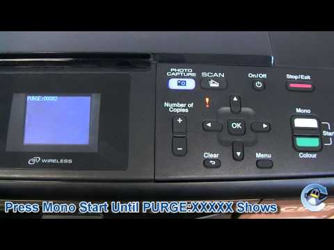 How to Reset Purge Counter on Brother DCP-J315W Printer