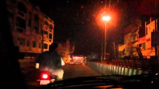 Hyderabad Jouney from Begumpet to Chintal Night Front Timelapse