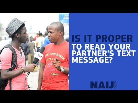 Is it proper for your partner to check your phone and read your messages?