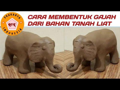 patung-nusantara-cara-membuat-tanah-liat-bentuk-gajah---elephant-ceramic-simple-by-clay