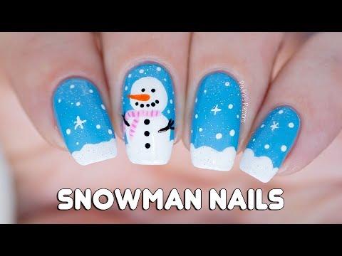SNOWMAN NAIL ART ⛄ - ⛄ SNOWMAN NAIL ART ⛄ - YouTube