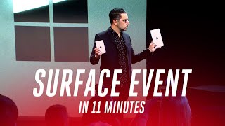 Microsoft Surface 2019 Event In Under 11 Minutes