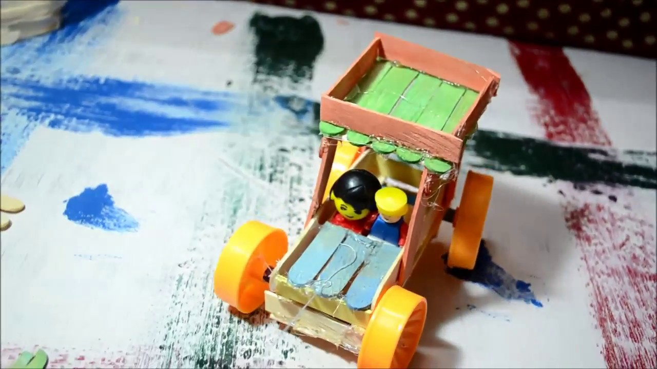 How to make car at home using popsicle sticks do it yourself youtube how to make car at home using popsicle sticks do it yourself solutioingenieria Image collections