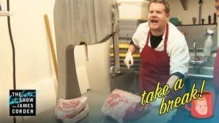 Repeat youtube video Take a Break: Kosher Butcher