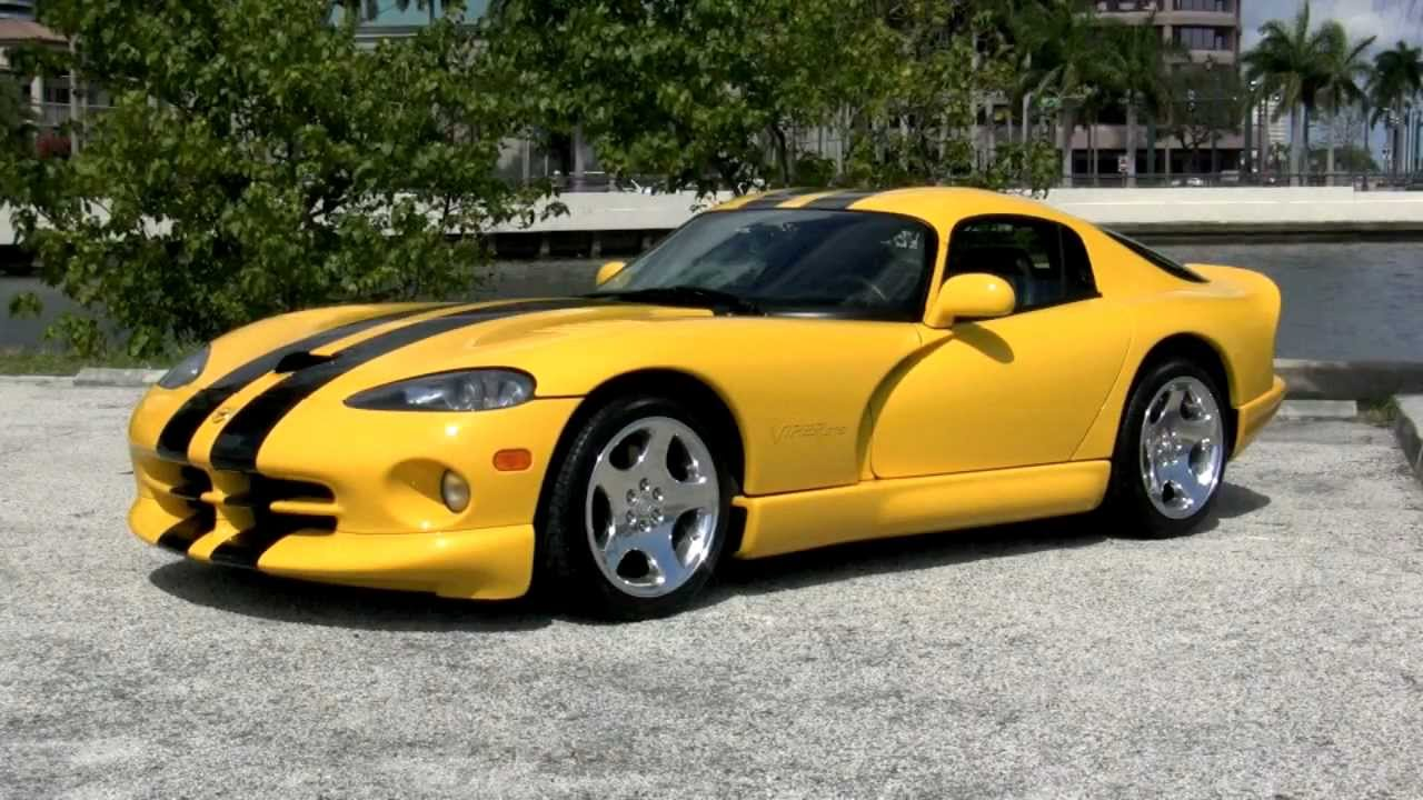 2002 dodge viper gts coupe gulfstream motorcars viper race yellow youtube