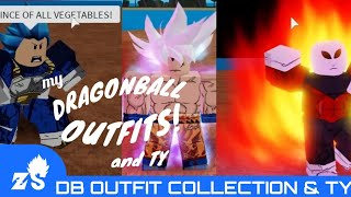 ROBLOX: Dragon Ball Custom Outfits! (also, ty for 352 subs)