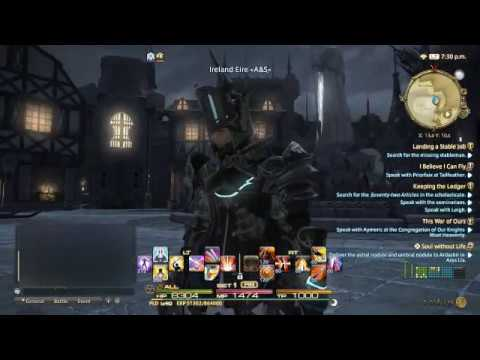 Final Fantasy XIV FFXIV PLD Paladin Ireland Eire Foundation Saint Valeroyant's Forum 17.04.17