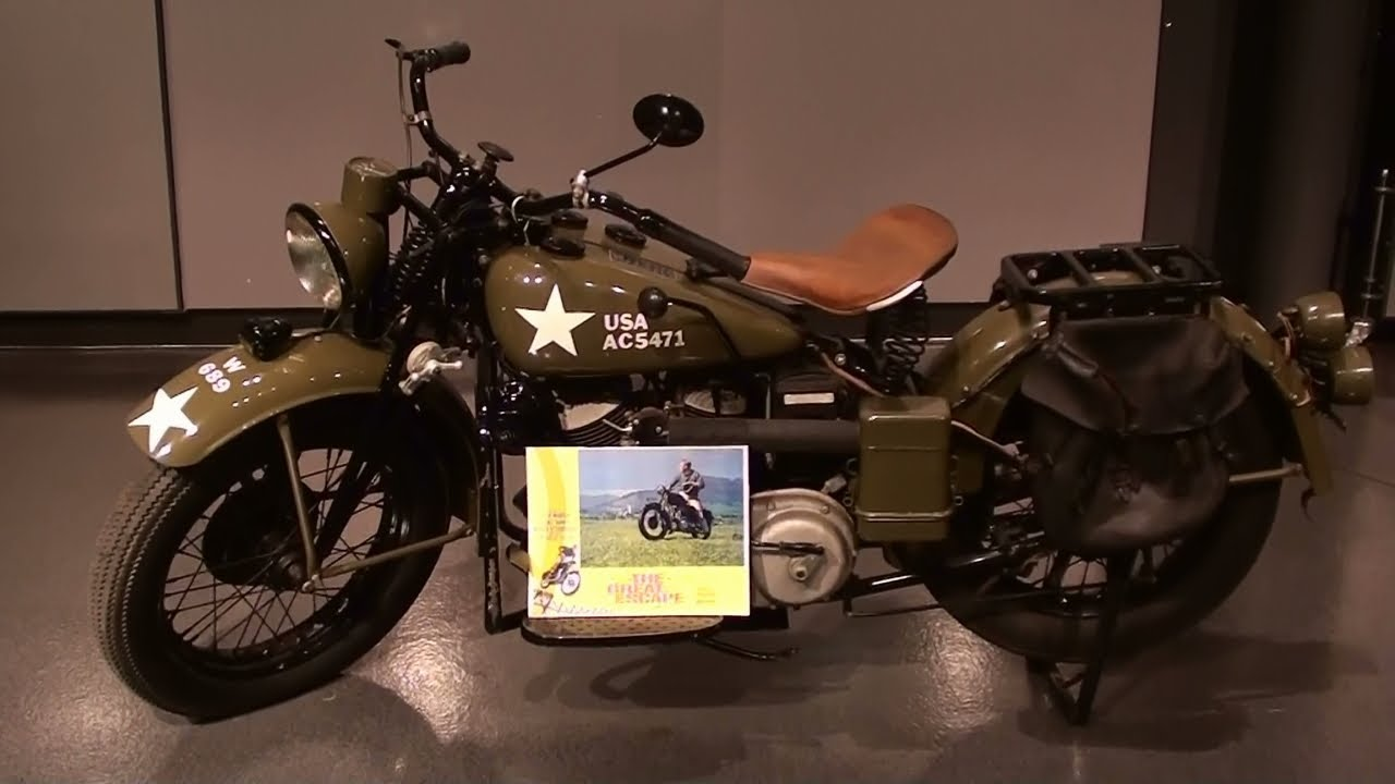 1941 Indian 741 Military Scout once owned by Steve McQueen - YouTube