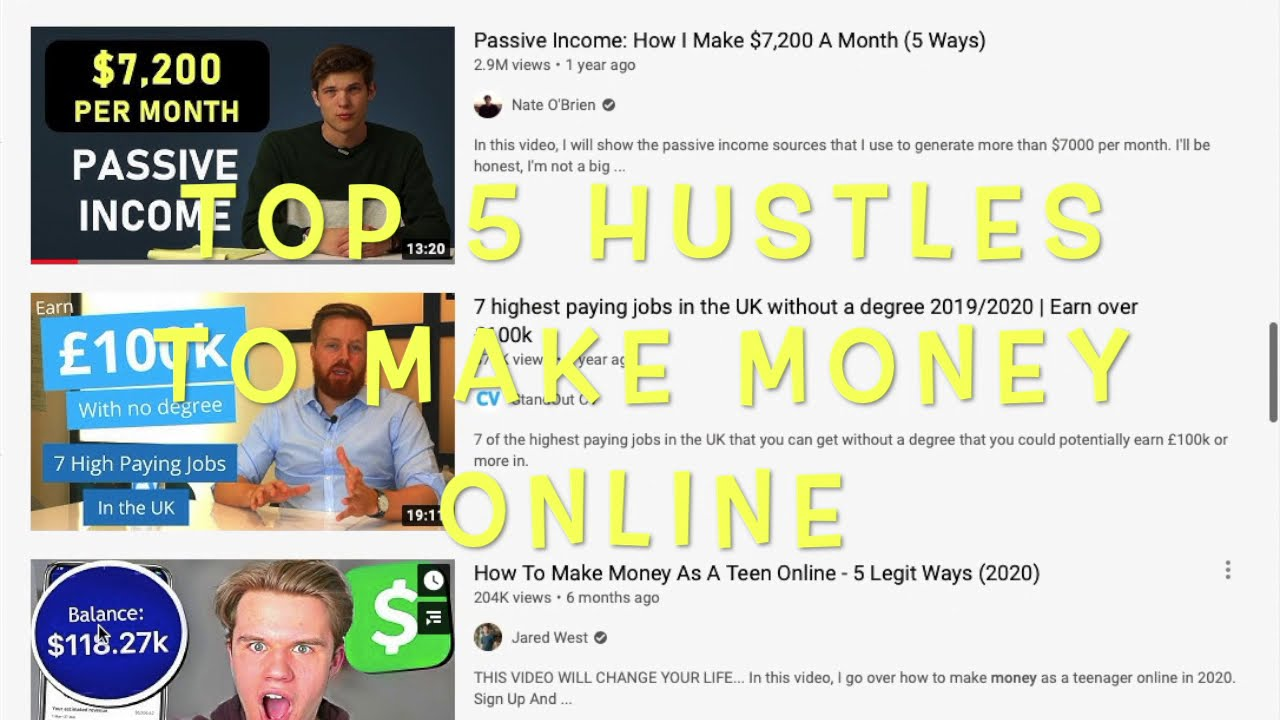 TOP 5 ONLINE SIDE HUSTLES FOR TEENS TO MAKE EASY AND FAST MONEY £3000+ Money making method