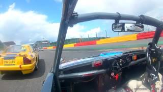 Spa CSCC inter series race  electrical issue Summer Classic Austin Healey Sprite