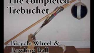 Peculiar Trebuchet: Bicycle Wheel And Bowling Ball