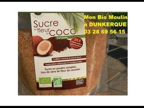 Sucre de fleur de Coco à Dunkerque - Mon Bio Moulin à Dunkerque