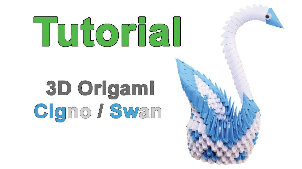 How to origami a swan - Origami 3d Swan Tutorial 1 32 Origami 3d Cigno Tutorial