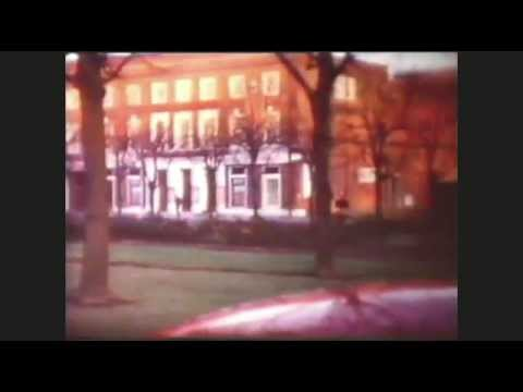 UK- Welwyn Garden City town centre Drive around. 8mm film 1966