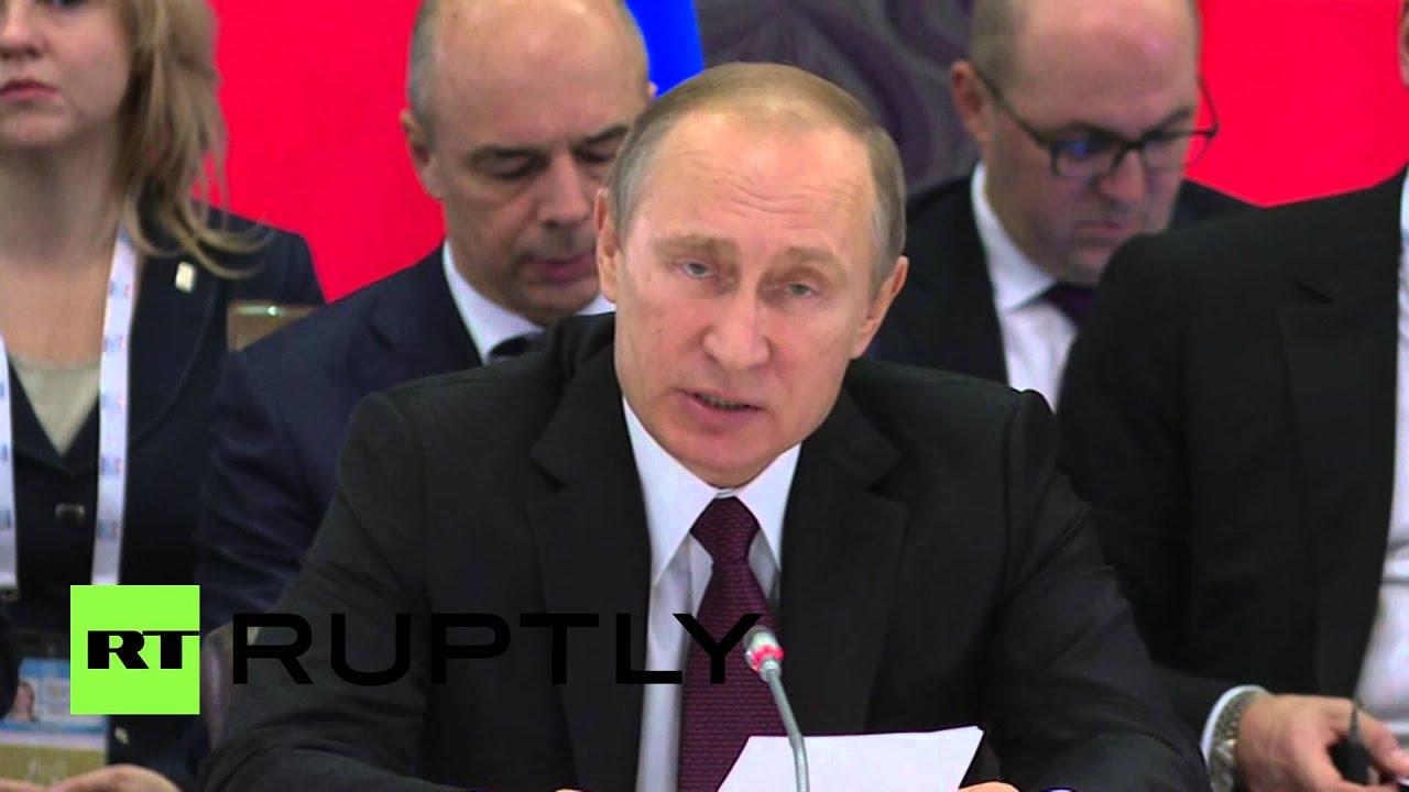 Вступительное слово Владимира Путина на встрече лидеров стран БРИКС
