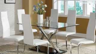 120 Xy White Chrome Dining Room Collection From Coaster Furniture