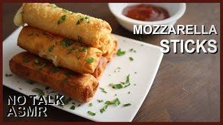 Fried Mozzarella Sticks - No Talk ASMR cooking recipe