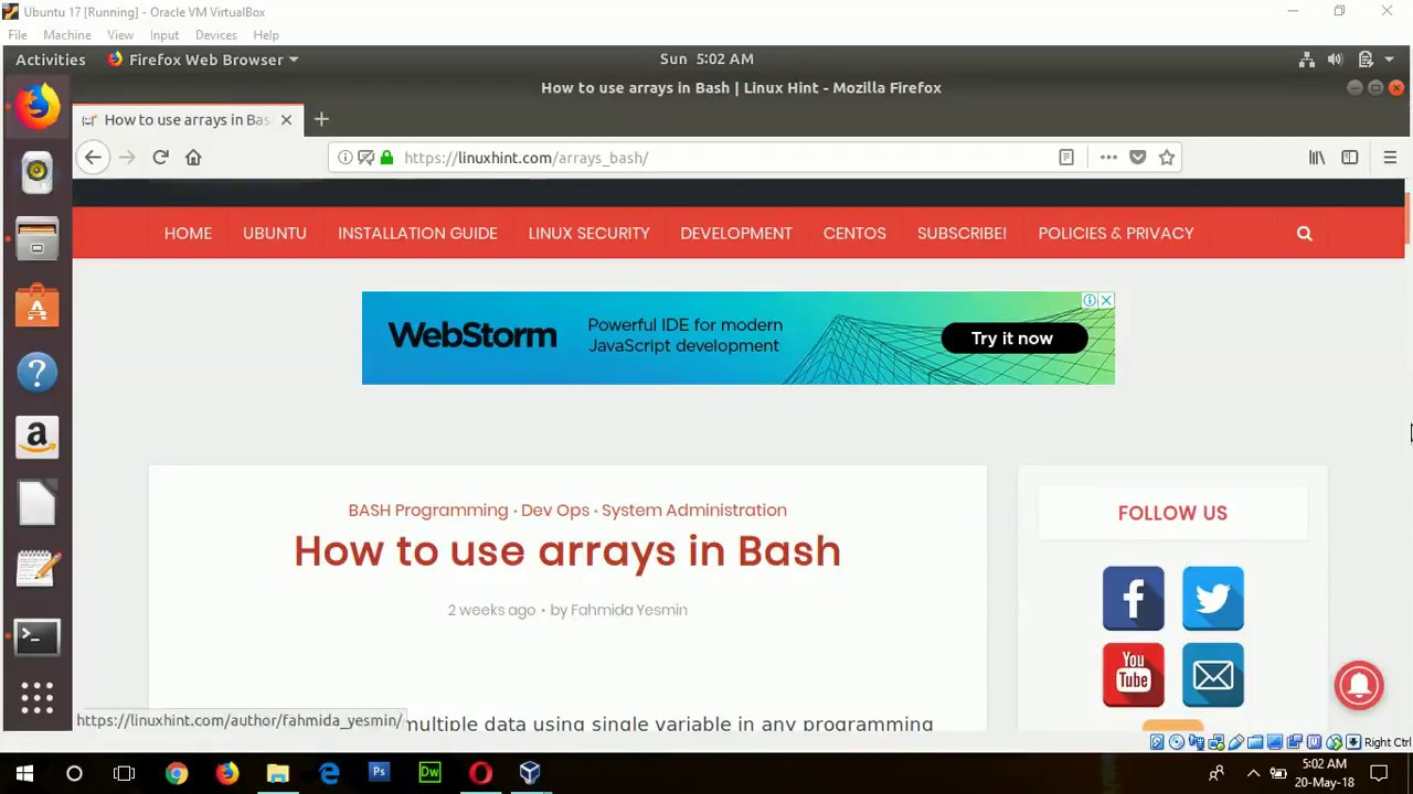 How to use arrays in Bash – Linux Hint