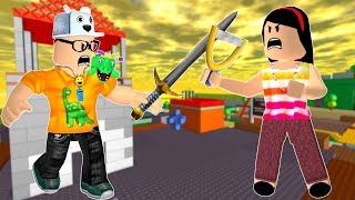 ROBLOX: MY MOTHER AND I IN: TRY TO SURVIVE IN THE CRAZY CITY OF LEGO! -Play Old man
