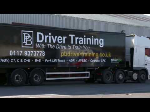 C+E REVERSING EXERCISE for DVSA TEST with PB Driver Training