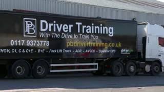 C+E REVERSING EXERCISE for DVSA TEST with PB Driver Training