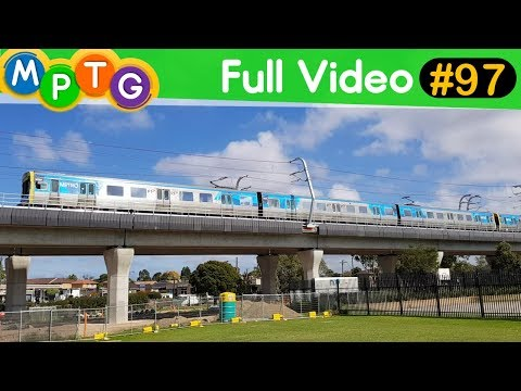 Melbourne's Metro Trains at the new Noble Park Station and SkyRail (Full Video #97)