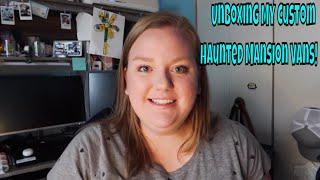 Unboxing my Custom Hand-Painted Haunted Mansion Vans!   Kat Cressida, 3T Customs, & Reclusive Souls
