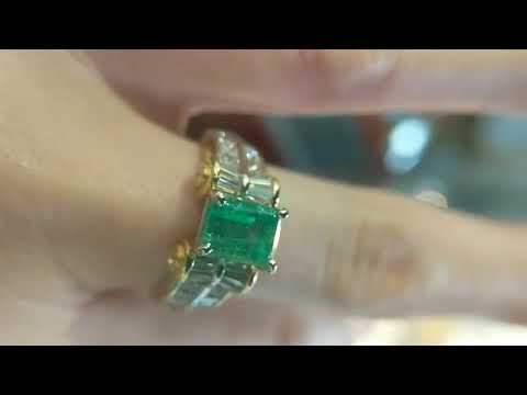 Custom Emerald Engagement ring by Secrète Fine Jewelry in Washington DC Bethesda