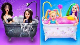 Rainbow Family and Dark Family / 10 DIY Barbie Doll Ideas