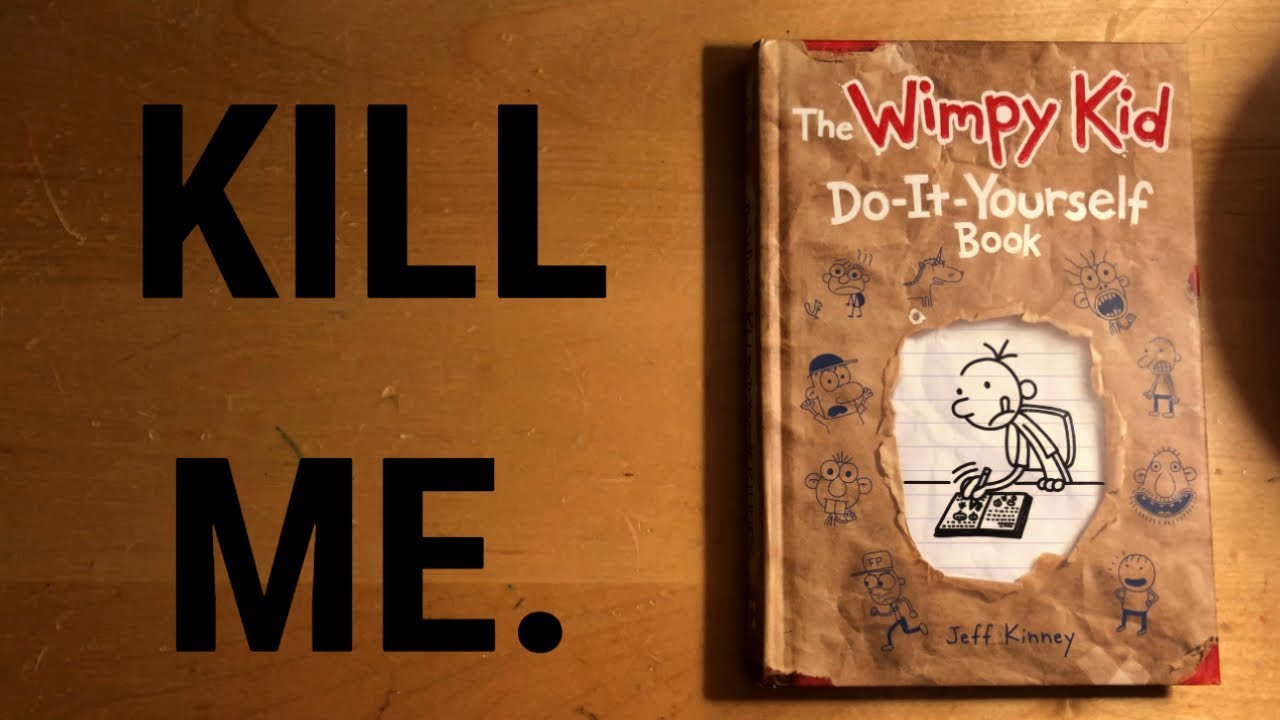 Reading My Diary Of A Wimpy Kid Do It Yourself Book Youtube
