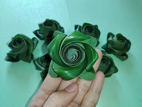 วิธีพับกุหลาบใบเตย แบบใหม่ ง่ายๆ / D.I.Y. Flower