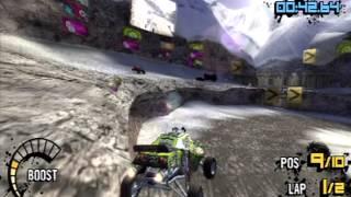 MotorStorm: Arctic Edge PSP demo gameplay (60fps)